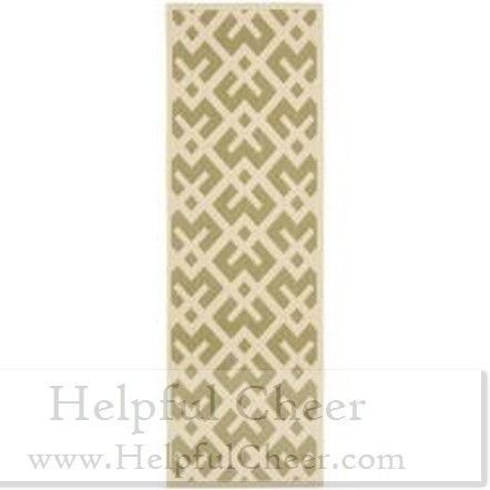 Safavieh Poolside Green Bone Indoor Outdoor Rug 2 x27 4 x 6 x27 7 Free shipping on orders over 50