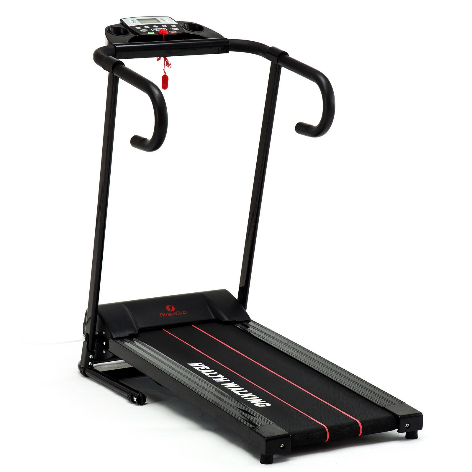 Folding 1100W Electric Motorized Treadmill Portable Running Fitness