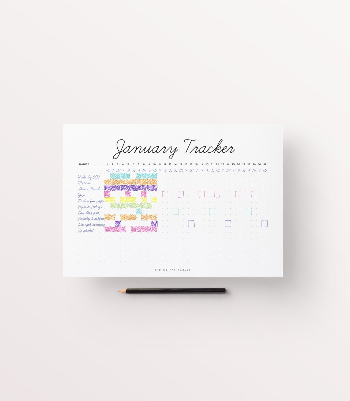 Habit Tracker Habit Planner Monthly Tracker Monthly