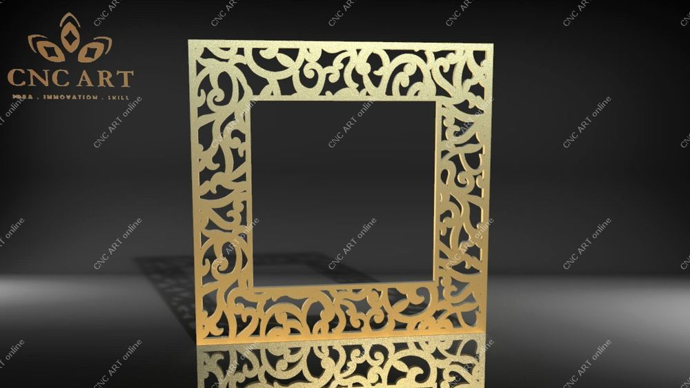Nice mirror frame DXF water jet Router laser DWG and EPS File For CNC Plasma