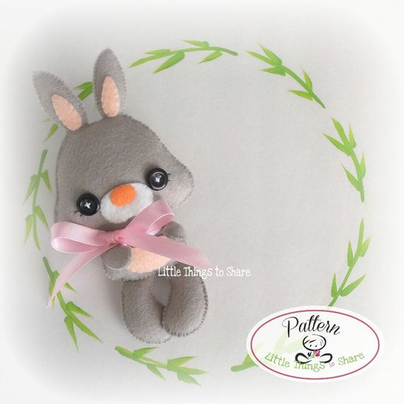 SPRING the BUNNY (PDF) This cute little friend is SPRING the BUNNY, perfect to be part of a cute baby mobile or as a present for anyone!! As always quick, easy, and fun to make. This PDF document will give you instructions and patterns to hand-sew a lovely 6-inch RABBIT. **You