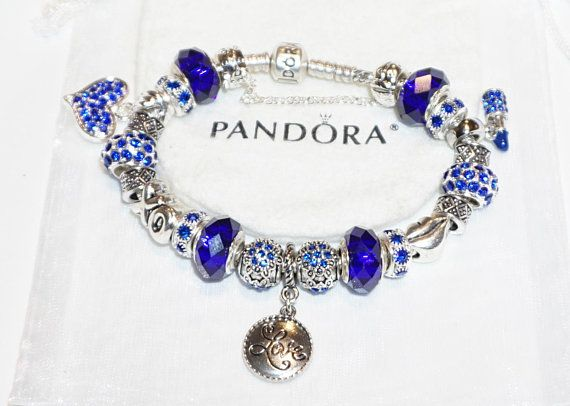 Beautiful in Blue I Love You Authentic Jared Pandora bracelet