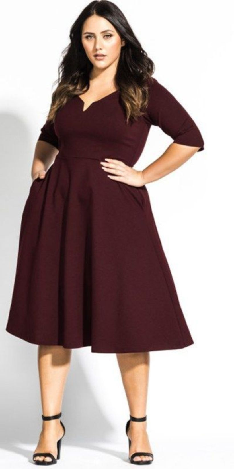 5b35e2c9834 Stunning 43 Stylish Plus Size Women Outfits for Winter Party  http   glamisse.