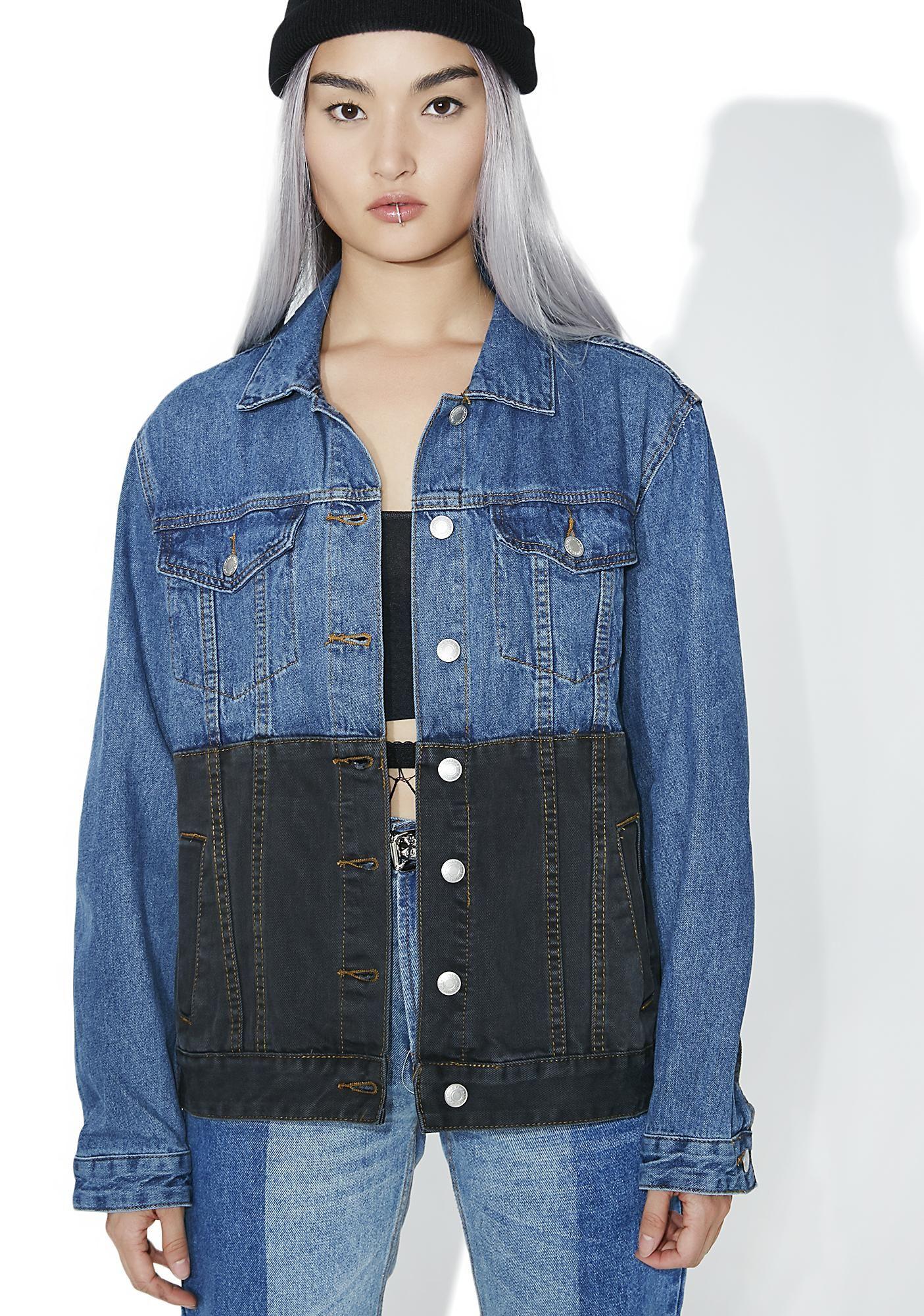 Black N Blue Denim Jacket Blue Denim Jacket Denim Jacket Clothes Design [ 2000 x 1405 Pixel ]