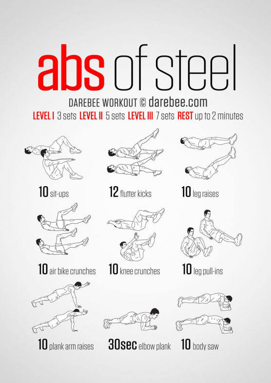 20 Stomach Fat Burning Ab Workouts From NeilaRey.c