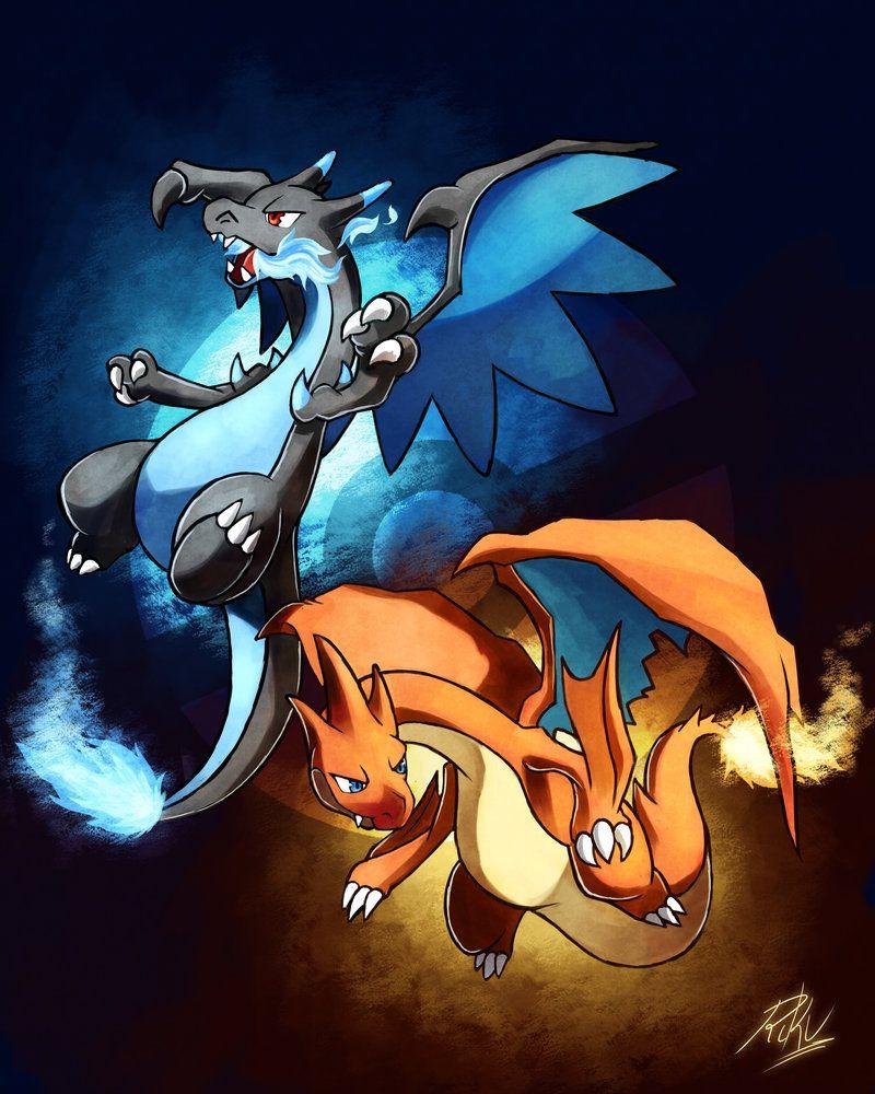 Mega Charizard X Y By Rikuaoshi On Deviantart Pokemon Charizard Pokemon Pictures