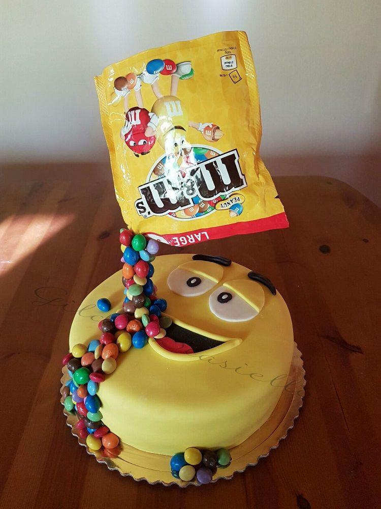 Gravity cake m & m's #gravitycake
