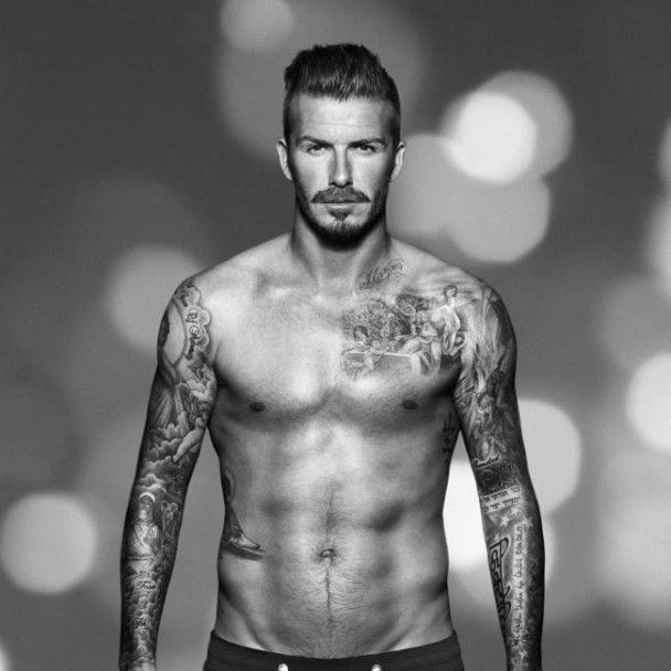 David Beckham Chest Tattoos 2013