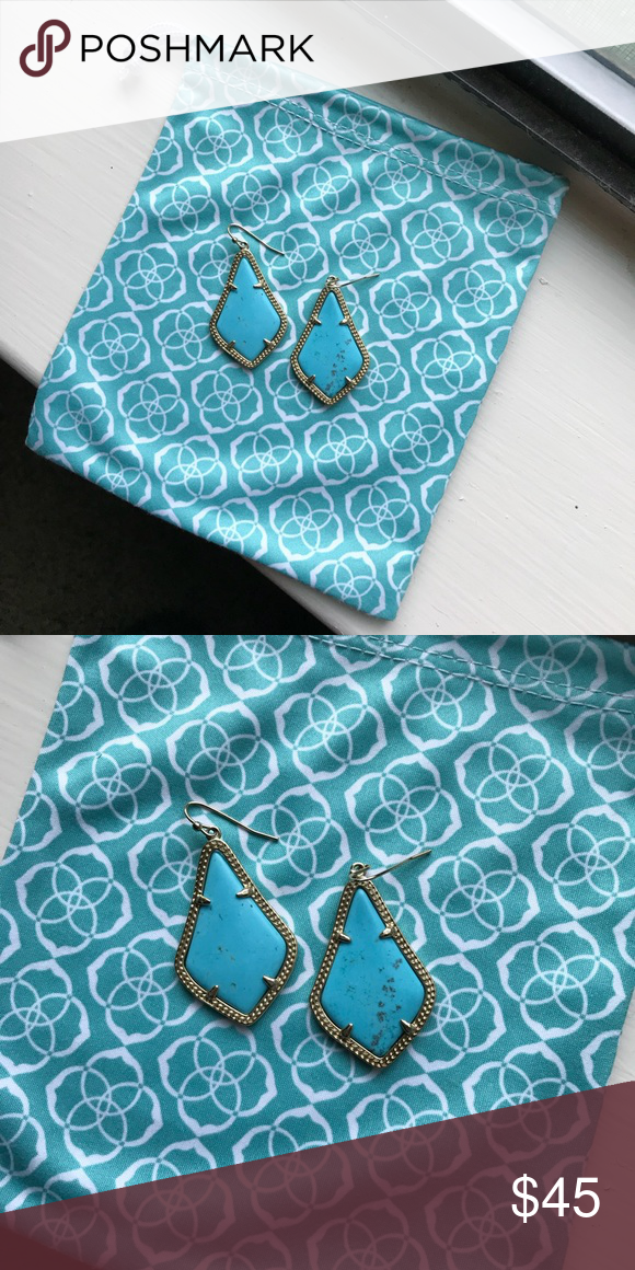 0ba004a9f Turquoise Kendra Scott Earrings Perfect condition... smaller size! *will  post actual name later* Kendra Scott Jewelry Earrings
