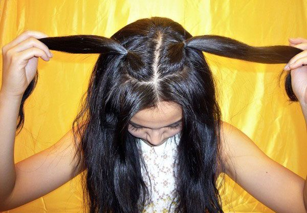 How To Make Cute Little Kitty Cat Ears With Your Own Hair Hair Long Hair Styles Diy Hairstyles