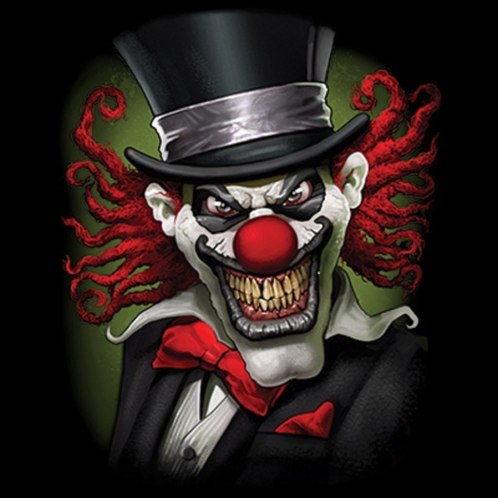 Crazy Clown T Shirt Pick Your Size Youth Medium To 6 X Large Scary Clowns Clown Tattoo Clown Horror