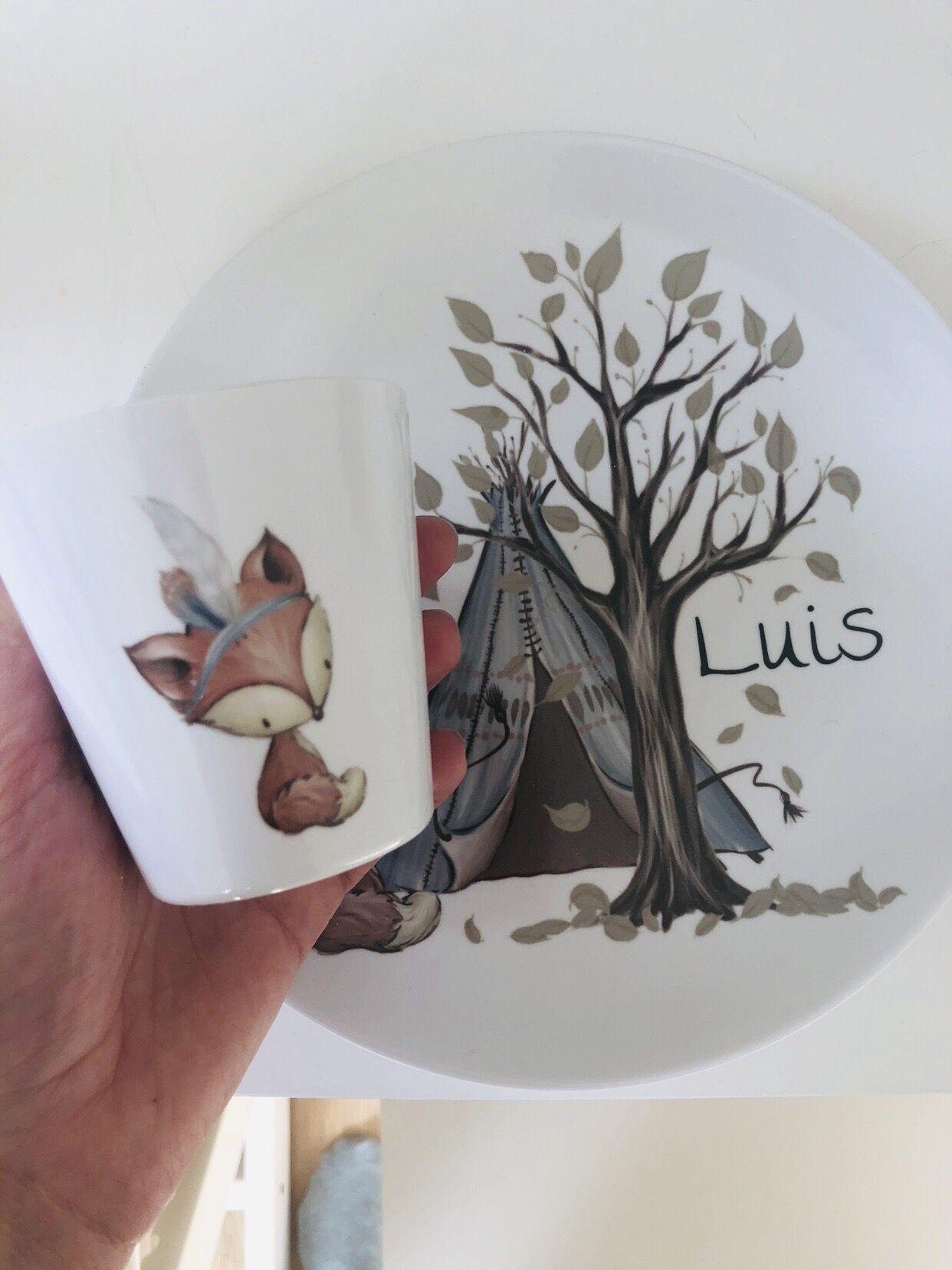 Süßes Geschenk Zur Taufe Oder Geburt Kindergeschirr Set Mit
