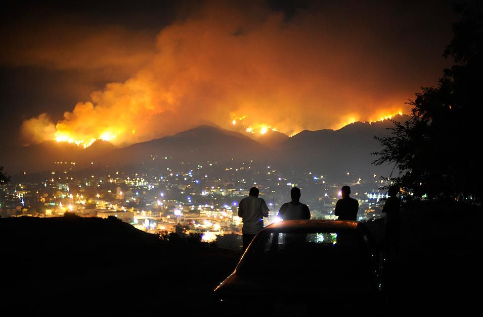 Hills Of La Crescenta Ca California Wildfires Los Angeles Area California Drought