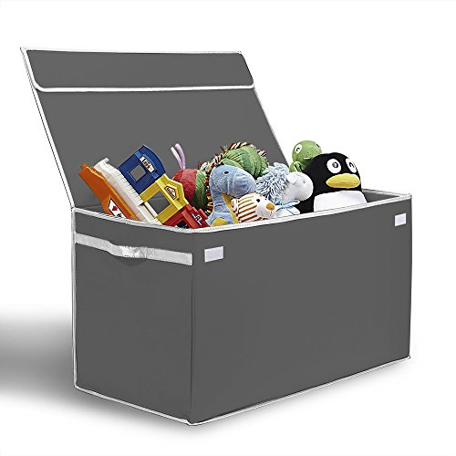 [Toy Storage Ideas] G.U.S. Kids Collapsible Toy Chest With Flip Top Lid,
