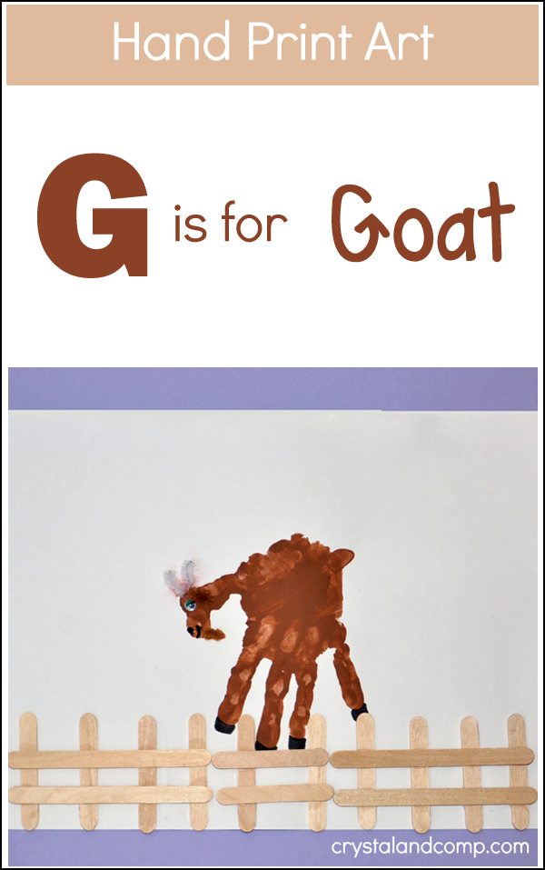 letter a handprint craft print g is for goat handprint animals crafts 19447 | 9b0734e94fa3cf18db85ec426525e953