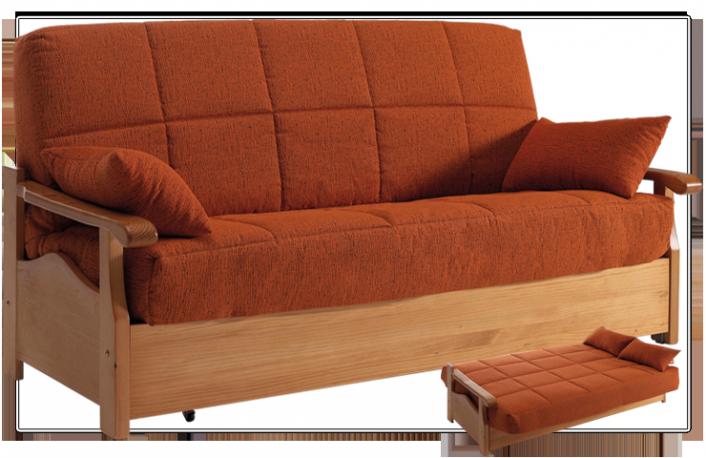 Sof cama clic clac moderno de madera  Sofs cama