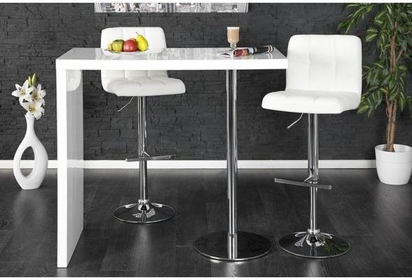 Duo Design Bar Table White High Gloss Kitchen Breakfast Bar Bar Table Home Bar Designs Bar Design