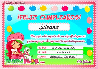 Tarjeta De Cumpleaños De Rosita Fresita Para Imprimir