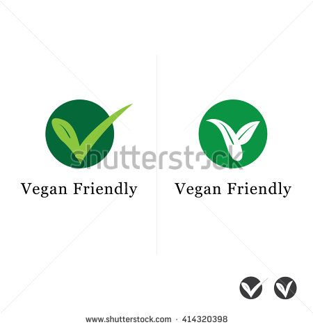 Suitable for Vegetarian Symbol - Vegan Friendly Food Icon - stock
