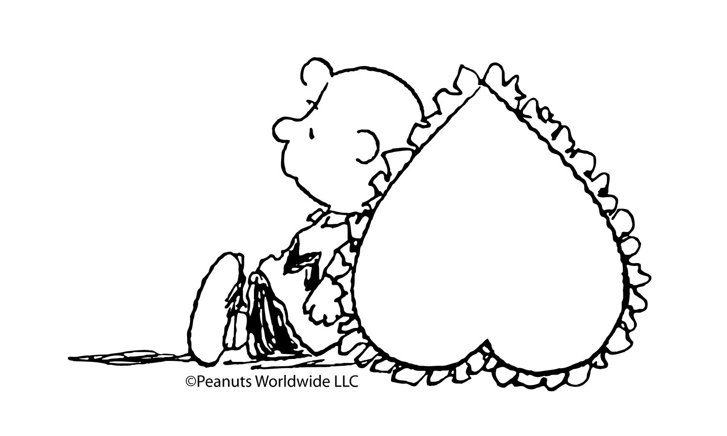 A valentineus heart for charlie brown valentine coloring