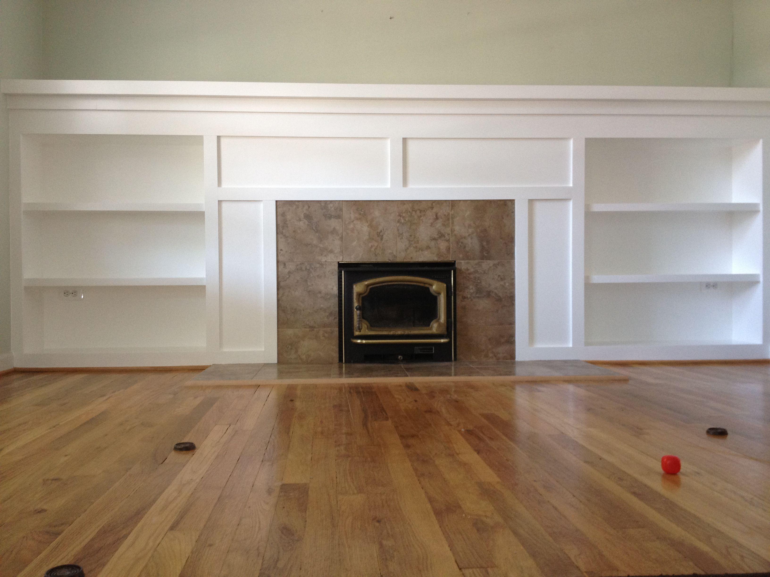 Half Wall Built Ins Fireplace Remodel Remodel Bedroom Master Bedroom Remodel