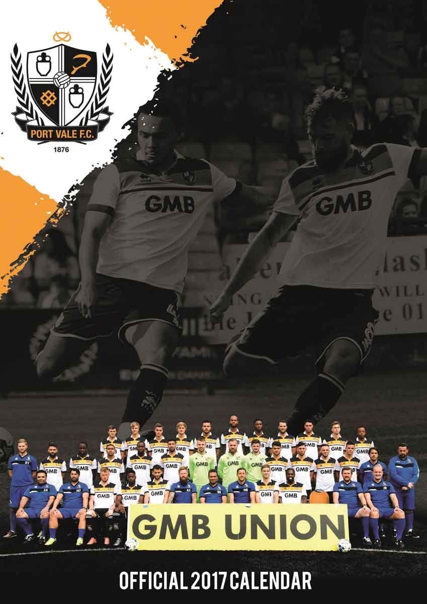 Port Vale FC A3 Calendar 2017