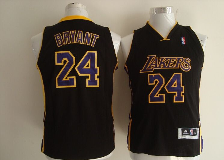 816bae879ca Los Angeles Lakers 24 Kobe Bryant Kids Hollywood Nights Jersey
