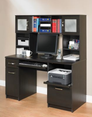Staples®. Has The Akada Home Computer Desk With Hutch, Java Brown.