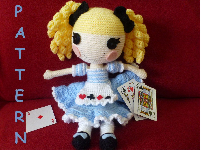 Amigurumi Doll Lalaloopsy Pattern : Alice in lalaloopsy land type doll pattern lalaloopsy dolls and