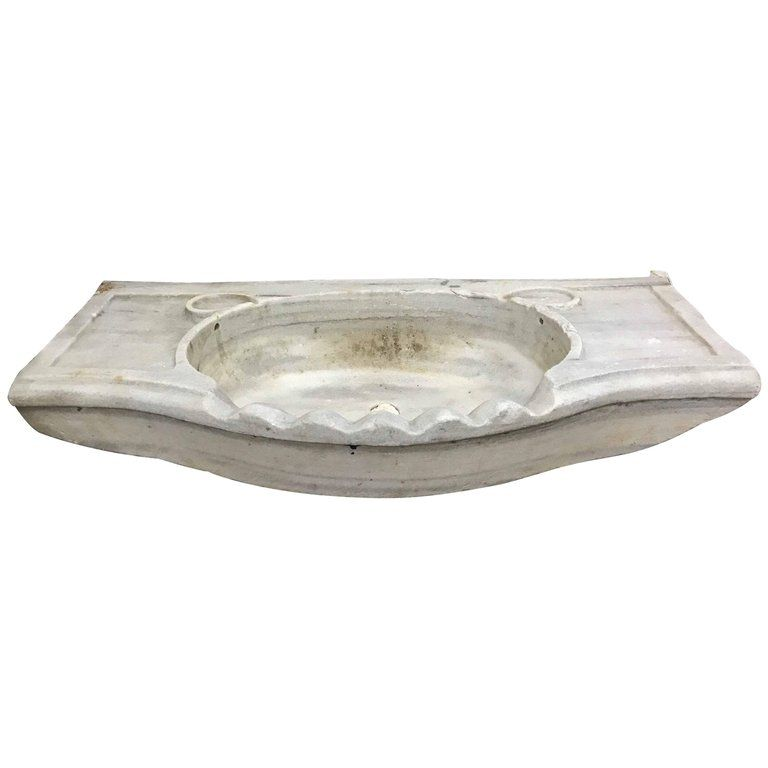 White Antique Marble Sink, Circa 1800s | From A Unique Collection Of Antique  And Modern Stone Sinks At ...