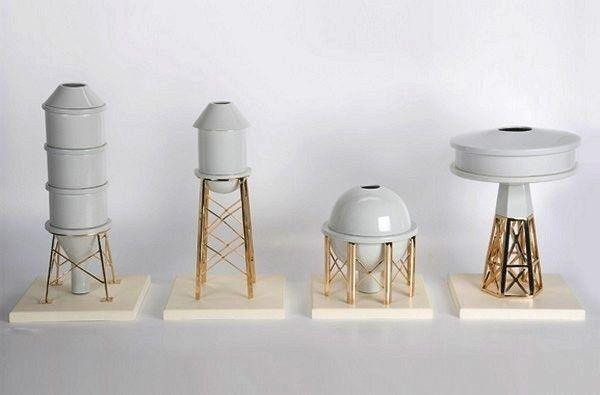 Industry Porcelain Vases, produced by studio Gentle Giants.