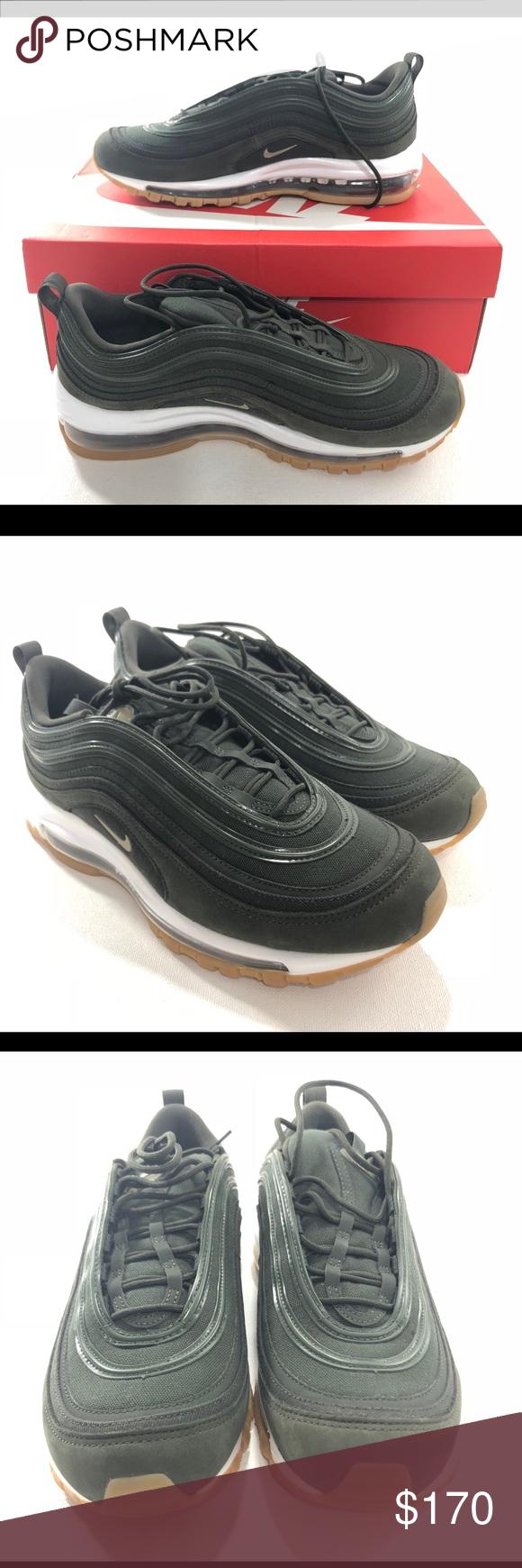 Nike Air Max 97 Womens UT Olive Sequoia Gum Suade BRAND