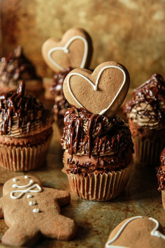 Gingerbread Maple Chocolate Cupcakes -vegan and gluten free from HeatherChristo.com