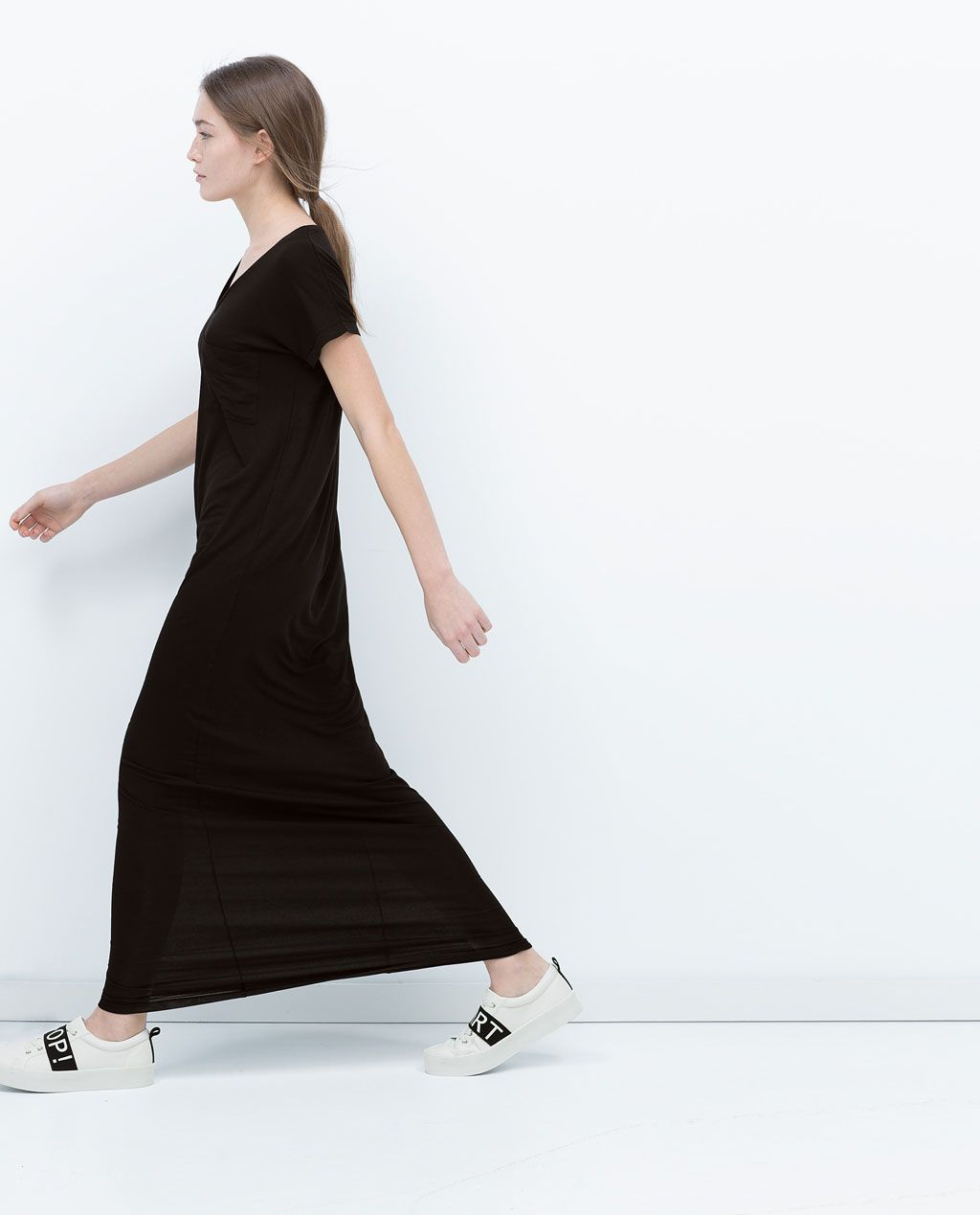 Black t shirt dress zara - The Perfect T Shirt Dress Zara And It S Only 22 Perfect For Running Around