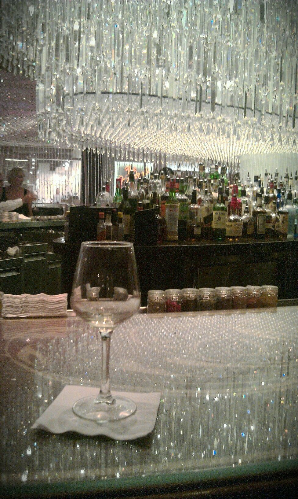 The Chandelier Bar at Cosmopolitan Hotel in Las Vegas...a must see ...