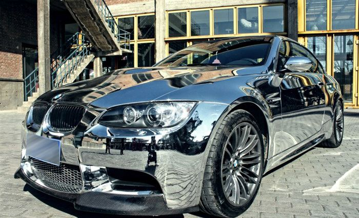 Chrome Vinyl Covered Bmw E93 M3 Tricked Out Under The