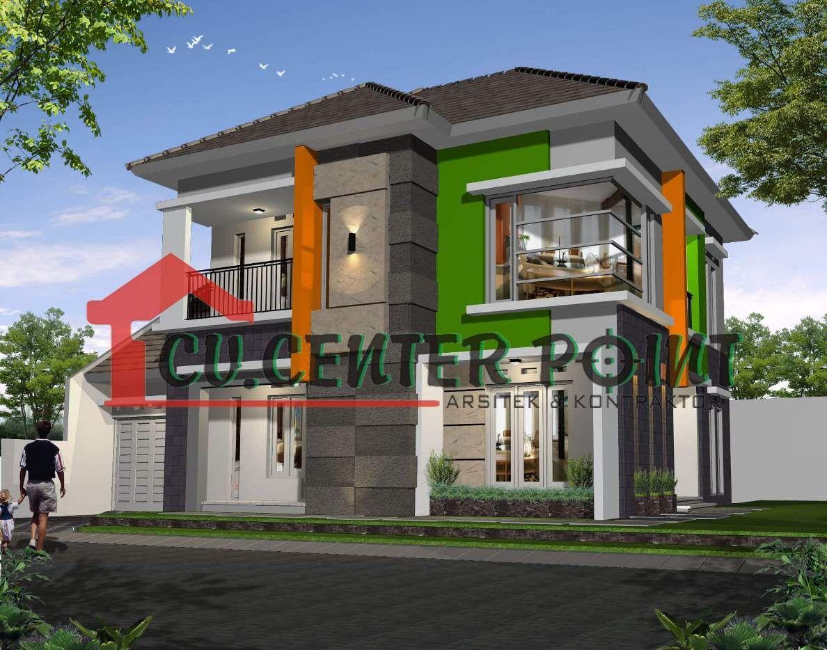 Jasa Desain Rumah Minimalis Murah Bali Warna Orange Dan Hijau