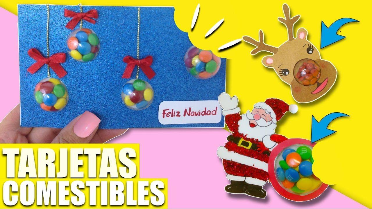 Tarjetas Comestibles Manualidades Faciles Regalos Ideas Para  ~ Ideas Para Regalar En Navidad Manualidades