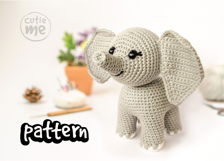 PATTERN. Dumbo the Elephant. Amigurumi pattern elephant , crochet elephant pattern.