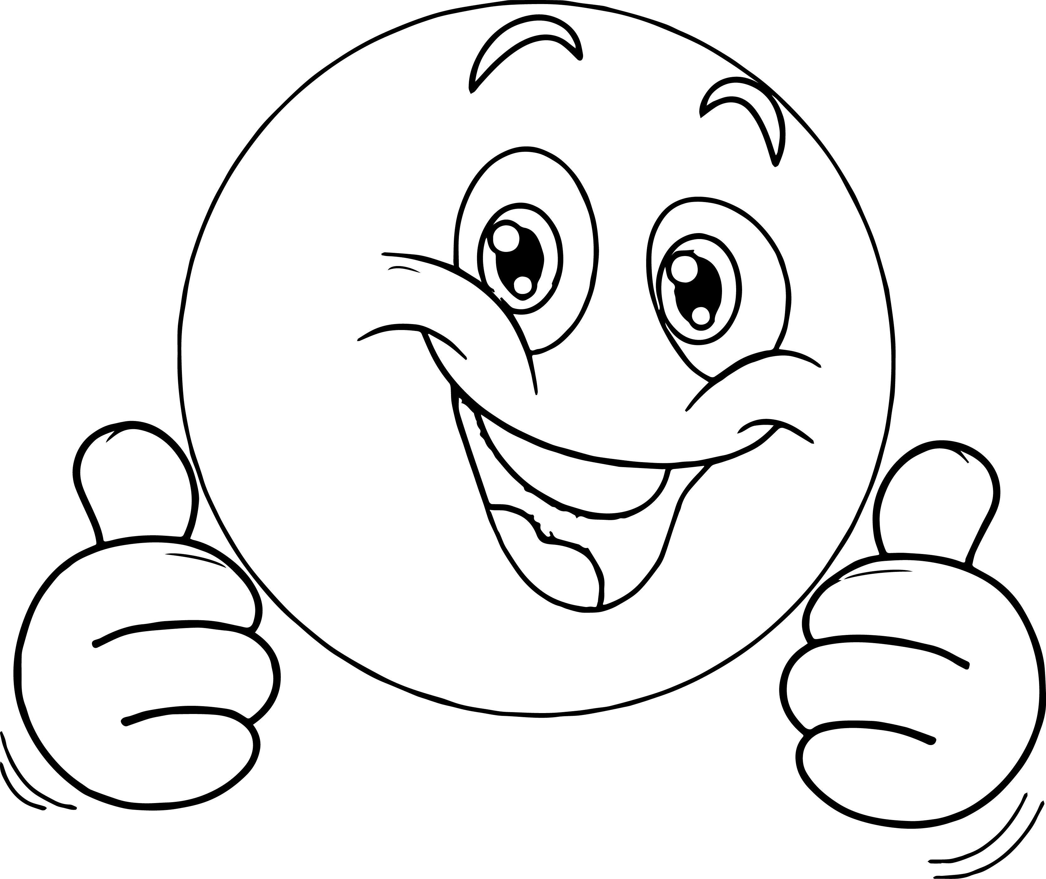 Cool Very Happy Emoticon Face Coloring Page