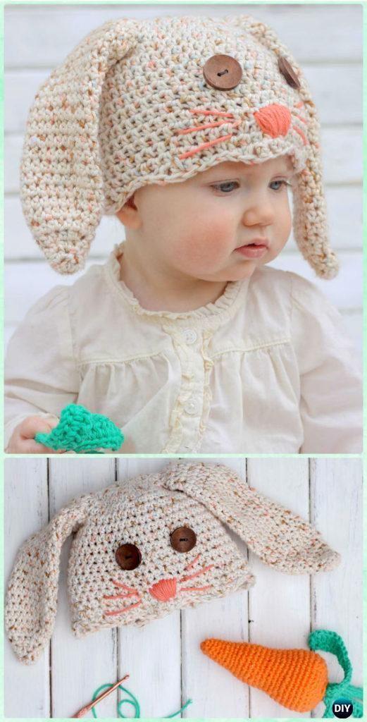 Crochet Bab0y Kids Bunny Hat & Carrot Rattle Free Pattern - Crochet ...