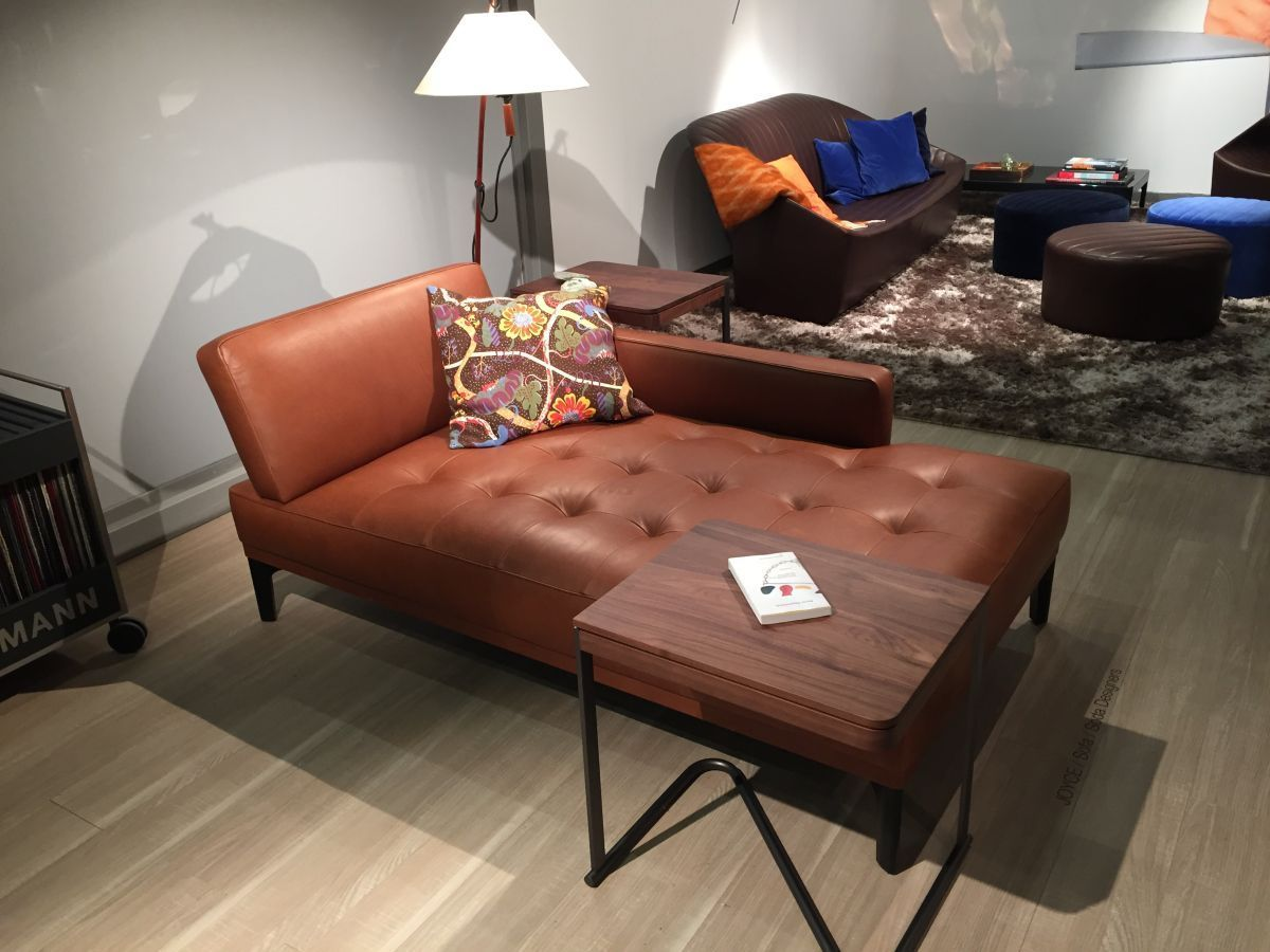 Tufted leather chaise lounge - Home Decorating Trends - Homedit : chaise lounge leather - Sectionals, Sofas & Couches