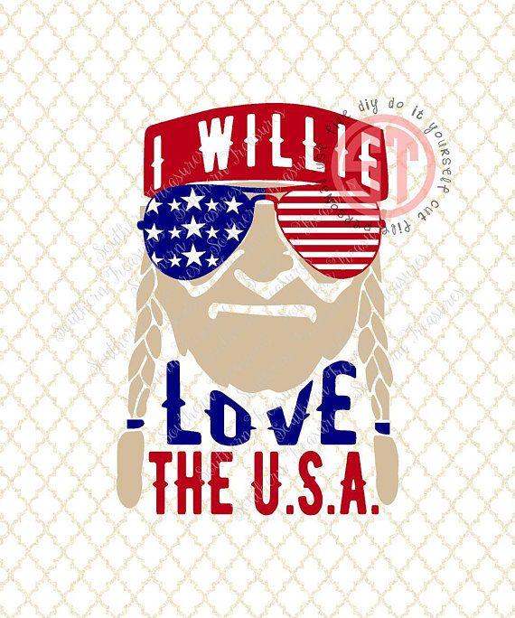 Download I Willie Love the USA (american sunglasses) Editable ...