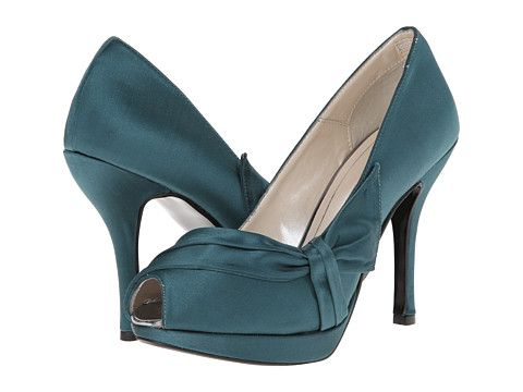 Caparros Odessa Teal New Satin - Zappos.com Free Shipping BOTH Ways. Teal  PumpsBlue High ...