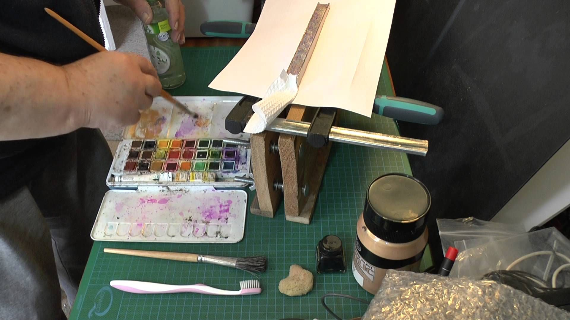 Bookbinding   Fore edge painting  A method