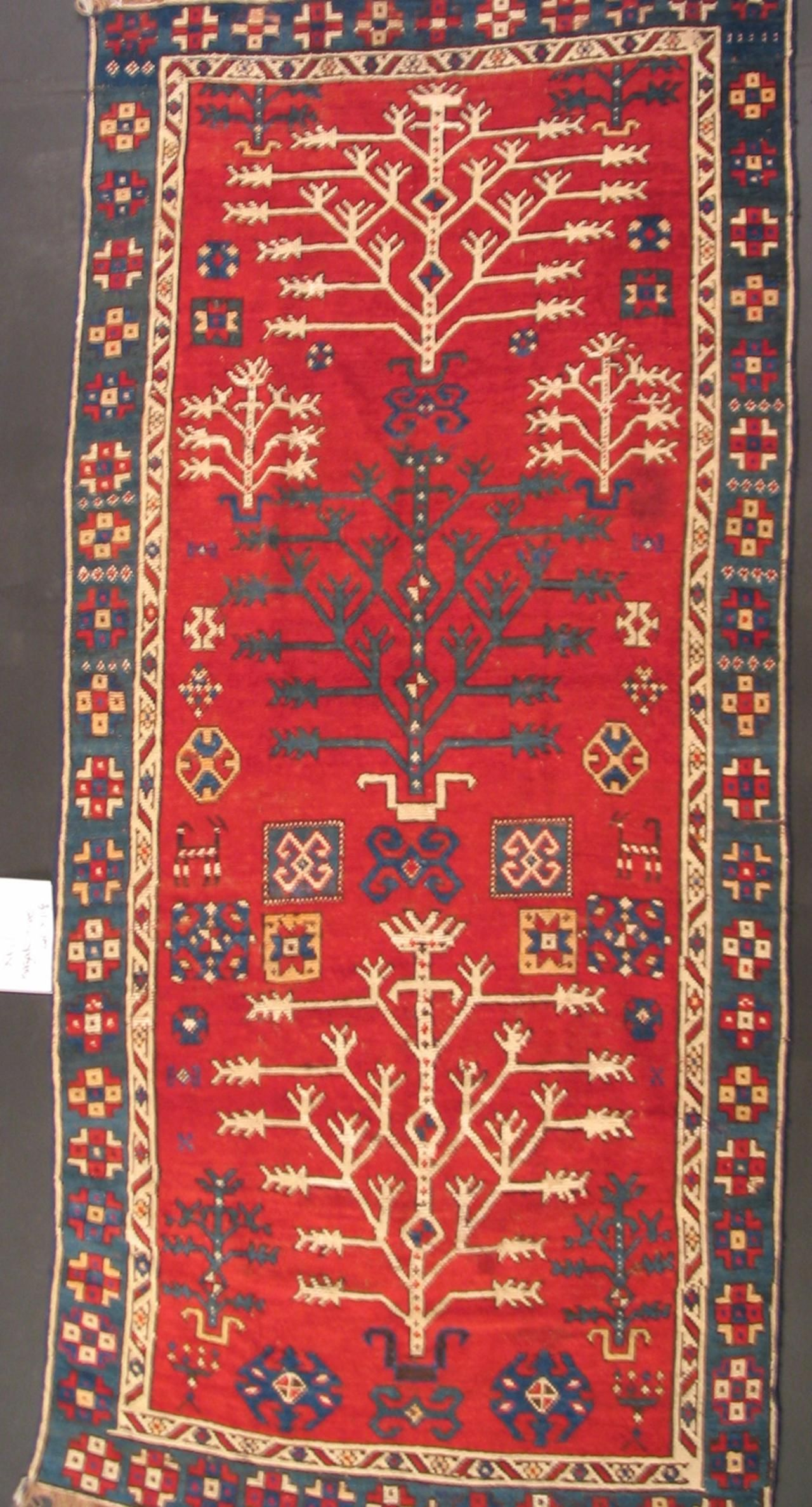 Runner Tree Kazak Circa 1875 Dimensions 260 X 118 Cm 102 3 8 X 46 7 16 In University Of Calgary With Images Rugs Rugs On Carpet Carpet Handmade