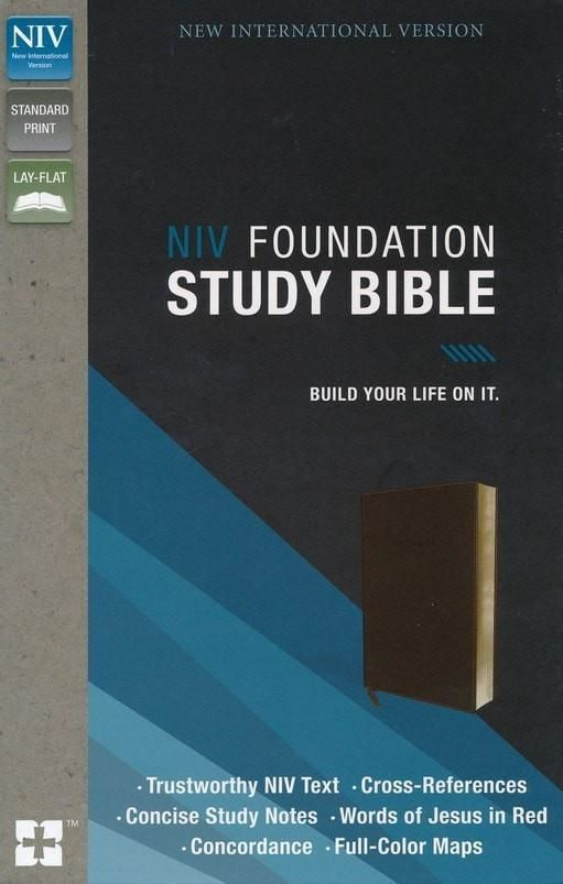 NIV Foundation Study Biblesoft leatherlook, earth brown