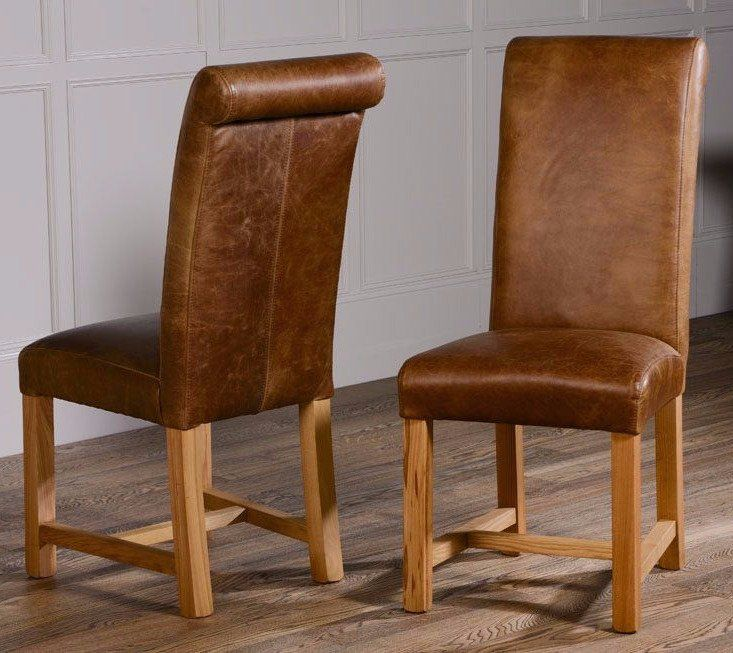 Room The Roll Back Leather Dining Chairs Exude Luxury And Quality
