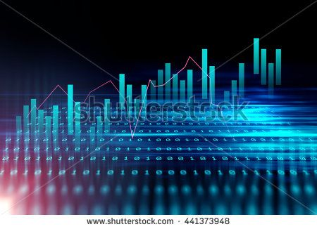 financial graph on technology abstract background represent