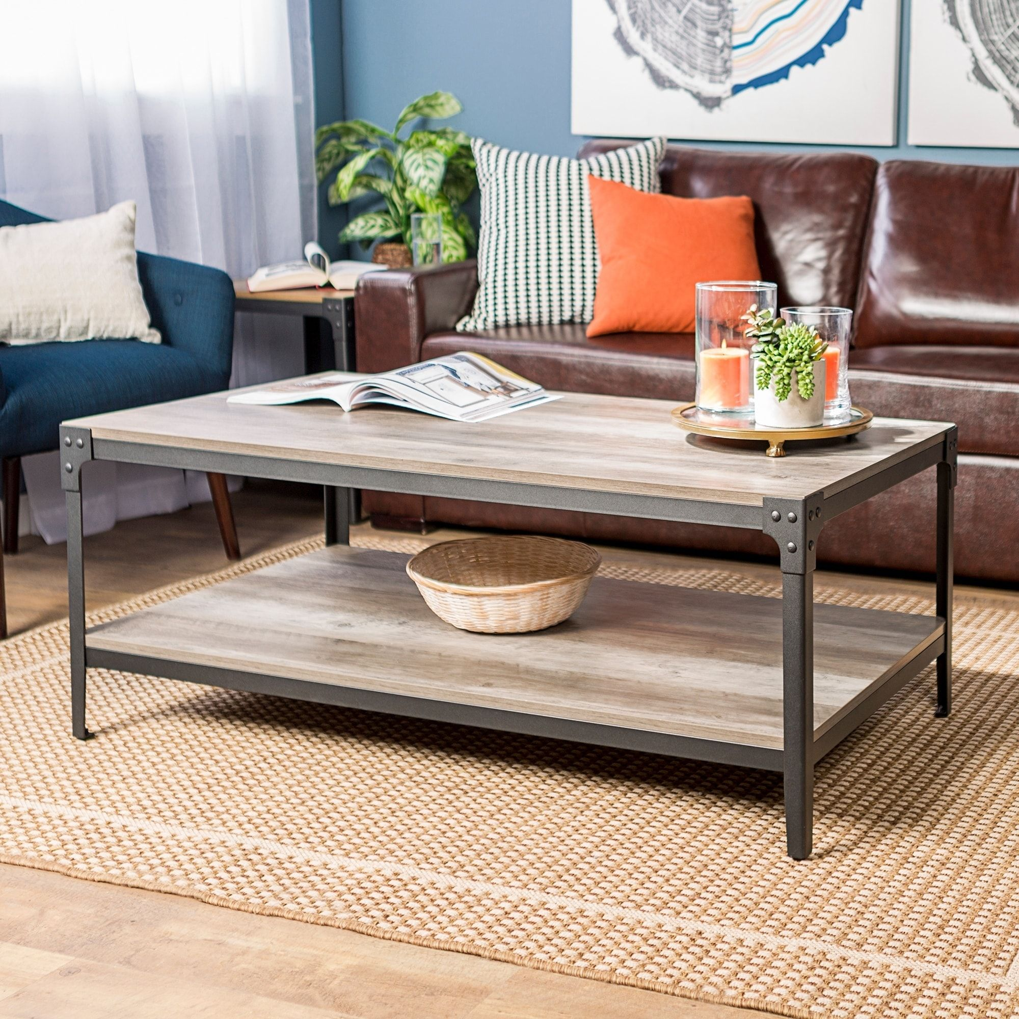Overstock Com Online Shopping Bedding Furniture Electronics Jewelry Clothing More Coffee Table Coffee Table Wood Iron Coffee Table [ 2000 x 2000 Pixel ]